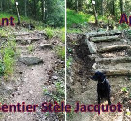 Travaux secteur de Steinbach. Stèle Jacquot