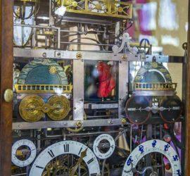 Massif du Jura juin 2019. Horloge Astronomique. Pièce unique construite en 1855 par Séraphin Cart Photo: Yves Crozelon