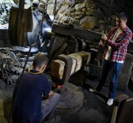 Les Forges de Pyrène. La forge à martinet.Photo: Yves Crozelon