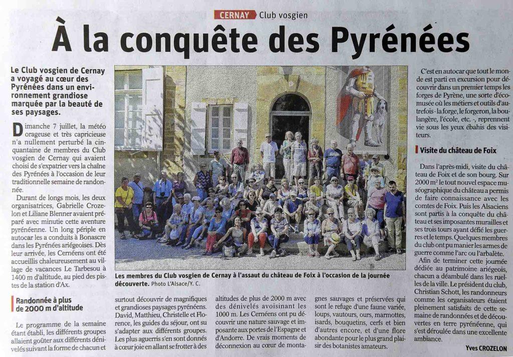 À la conquête des Pyrénées. Juillet 2019