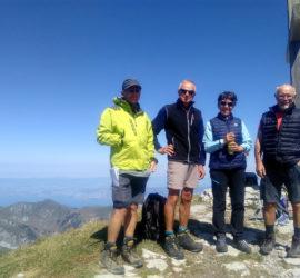 Sortie dans le Chablais juillet 2019. Le groupe 1 au sommet Des Cornettes de Bise 2432m Photo : Katia Welterlin