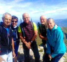 Sortie dans le Chablais juillet 2019. Le groupe 1 au sommet de la Dent d'Oche 2221m Photo : Katia Welterlin