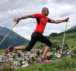 Marianne Tolomio en stage marche nordique à Cogne vallée d'Aoste juin 2019