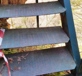 Décembre 2019, intervention 8 vis cassées et remplacées escalier du Hirlenstein