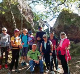 Sur les hauteurs de Steinbach,Le rocher de l'Hirnelestein Photo: Marianne Tolomio