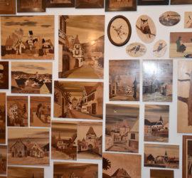 Galfingue 08 10 2019. Musée et randonnée. Marquetterie. Photo : Claude Seignez