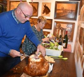 Galfingue 08 10 2019. Musée et randonnée. Maurice & Armande en cuisine. Photo : Claude Seignez