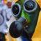 Masque intégral contre le coronavirus. Mars 2020 Photo: Yves Crozelon