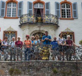 Kandern 02-08-2020. Le Schloss Bürgeln. Le Roi Schott 1er et sa cour. Photo: Yves Crozelon