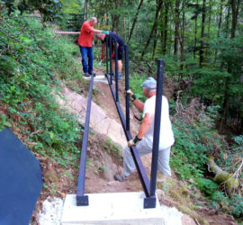 Chantier passerelle cascade Erzenbach. Sept.2020 Photo: Christian Schott