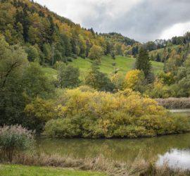 Marche Nordique 08-10-2020 Le lac de Lucelle. Photo: Yves Crozelon