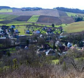 Vue panoramique sur Wittersdorf. Fév.2021. Photo: Yves Crozelon