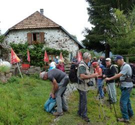 Randonnée du Lachtelweiher à la source de la Doller. Ferme auberge du Bruckenwald. Photo: Danielle Natter