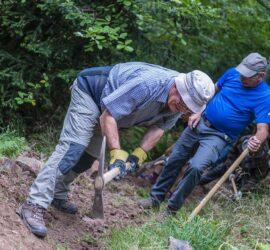Matinée de travail 19-09-21 sur sentiers partagés Molkenrain-Uffholtz. Photo: Yves Crozelon